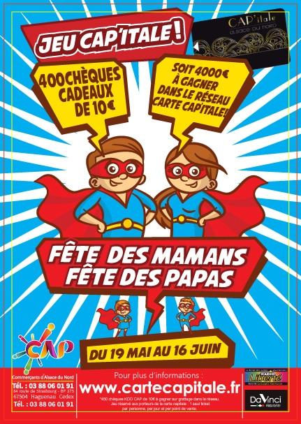 Jeu CAP'itale : Fête des mamans et des papas   La CAP Alsace