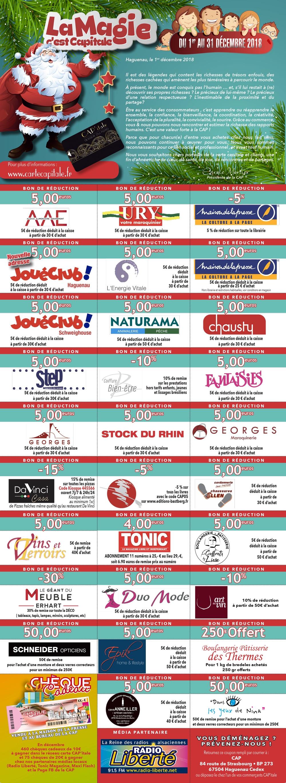 Jeu de Noël 2018 - Carte CAP'itale CAP Alsace