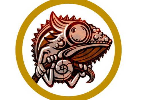 logo bar le caméléon