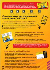 Paiement du Parking avec votre carte
